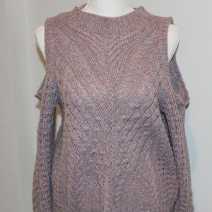 Pink and purple cold should sweater